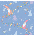 Seamless pattern with Santa Claus vector image