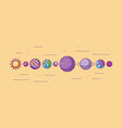 solar system galaxy astronomy universe vector image