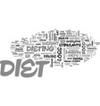 Which diet suits you best text word cloud concept vector image