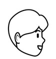man profile cartoon vector image