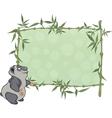 Panda with blank sign Cartoon vector image vector image