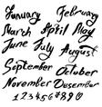 month handwritten 380 vector image