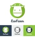 flat modern minimalistic cow logo vector image