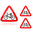 Bike road  sign Vector Image