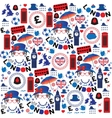 Pattern with London symbols vector image