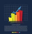 Flat design chart vector image vector image