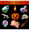 Set of fixtures for the magic Halloween vector image