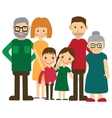 Happy family portrait Father and mother son and vector image