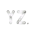 Y and Z vector image