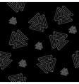 Pattern geometric seamless simple monochrome vector image