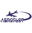 aeroflot vector image