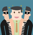Character good person hide in thief vector image