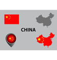Map of China and symbol vector image