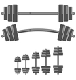 Set of Barbells vector image