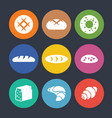 set of colourful icons with baked goods isolated vector image
