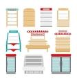 Store shelves or shop showcases vector image