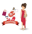 shopping market shop store icon set vector image