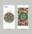 mobile phone cover design floral mandala vector image