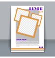 Flyer template business brochure for design vector image