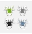 realistic design element spider vector image