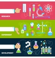 Chemistry design banners vector image
