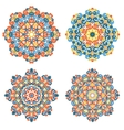 Colorful mandalas Traditional lace ornaments vector image