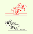 Dragonfly label decoration vector image