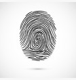 fingerprint icon identification isolated on white vector image