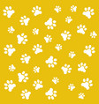 fingerprints of the paws of vector image