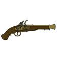 Historical matchlock pistol vector image