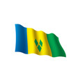 Saint vincent and the grenadines flag vector image