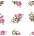 Seamless pattern with pink flowers of peonies vector image
