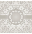 seamless vintage wallpaper pattern with frame vector image vector image