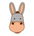 mule character isolated icon vector image