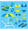 Fashionable set with a swimming suit vector image vector image