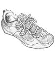 Shoe Sketch vector image vector image