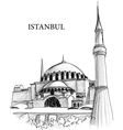 istanbul st sophia cathedral vector image