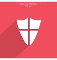 shield web icon vector image