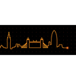London Cardiogram vector image