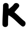 K capital silhouette vector image
