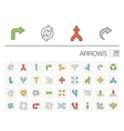 Arrows and direction color icons vector image