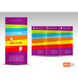 creative design brochure Tri-fold Layout Design vector image vector image