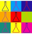 Conical Flask sign vector image