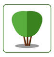 Shrub tree icon vector image vector image