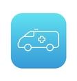 Ambulance car line icon vector image