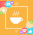 cup with steam vector image