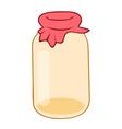 Empty glass jar vector image