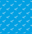 Holiday flags pattern seamless blue vector image