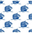 Seamless pattern of a sailing ships vector image
