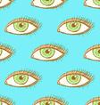 Sketch eye in vintage style vector image